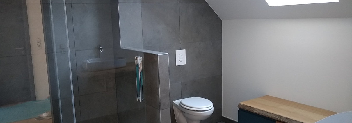 Construction neuve, salle de bain, haut-rhin, alsace