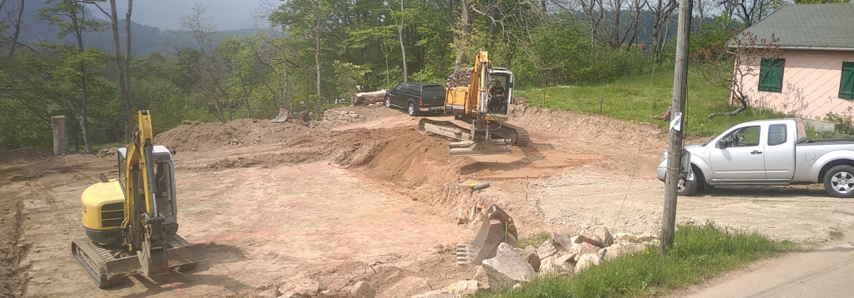 Chantier de construction - terrassement - constructeur maison haut rhin, alsace