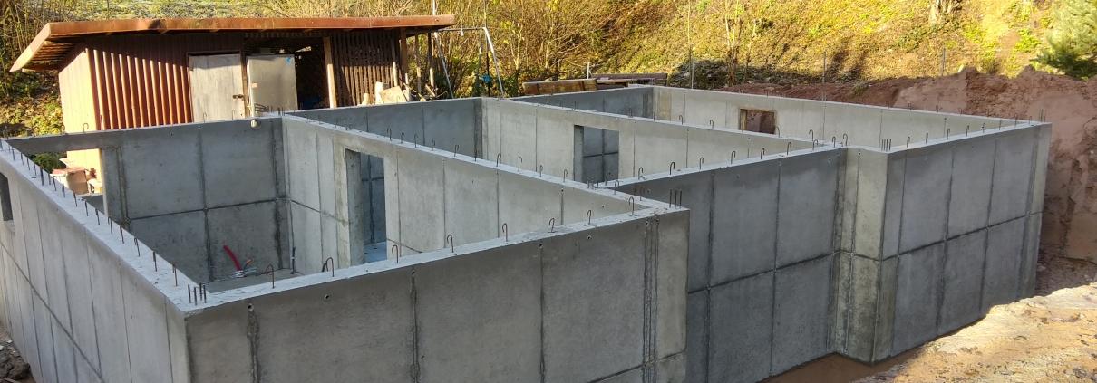 Construction maison ossature bois, fondations, haut rhin, alsace