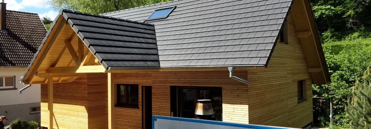 chantier de construction maison ossature bois, constructeur chalet